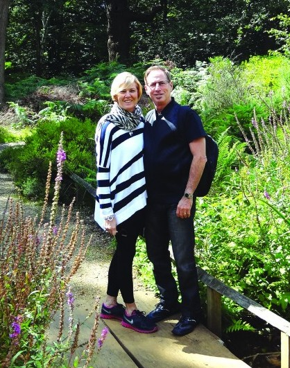 Leisa and her husband, Richard, on vacation in England.