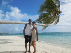 Bobeth and Ritchie on their honeymoon in Maldives.