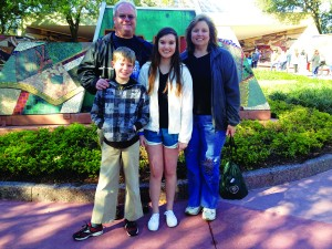 Jennifer and her family at Epcot.