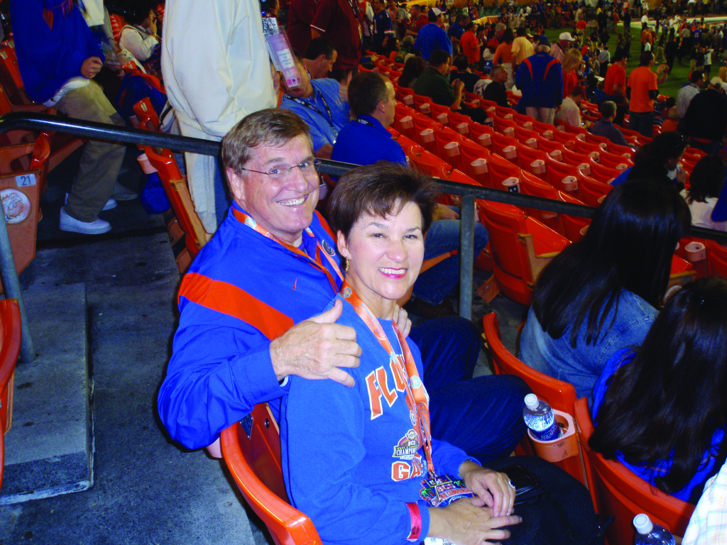 Alex and Bill at UF game